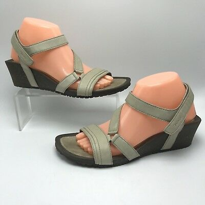 a88065d1579a Teva Womens Cabrillo Sandals Wedge Crossover Strappy Dune Beige US 10