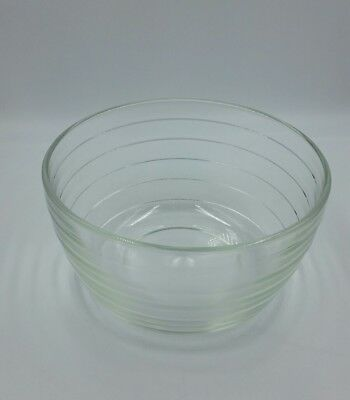 Vintage Pyrex Clear Glass Beehive Ribbed Mixing Bowl for Westinghouse 9 Inch