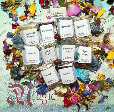 DIY Astral Projection Set of Herbs - DIY Incense, Potion, Spell - Herbs & Resins
