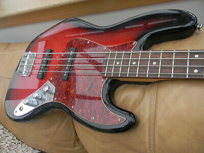 2008 Squier by Fender Standard Jazz Bass Guitar. Crafted in Indonesia. Ex. cond.