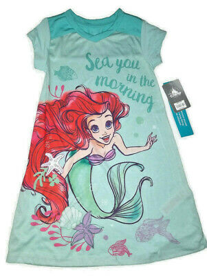 """DISNEY Store NIGHTSHIRT for Girls ARIEL /""""Sea You in the Morning/"""" Pick Size NWT"""