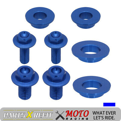 New Blue CNC Screw Bolts of Seat Side Panels For Yamaha WR450F 2012 2013 2014