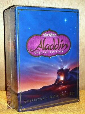 Aladdin Special Edition Collectors Set (DVD, 2004, 2-Disc) DISNEY Robin Williams
