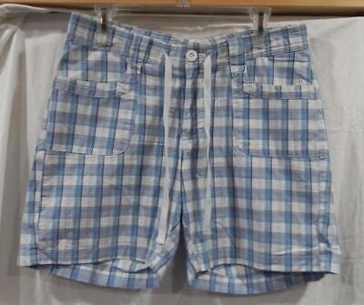 GW - Ms. Lower on the Waist Plaid Midrise Shorts from Lee - Blue/White - Sz 8M