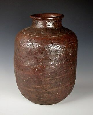 1600s JAPANESE TEA JAR SHIGARAKI CHATSUBO Antique Edo Pottery Chado Tea Ceremony