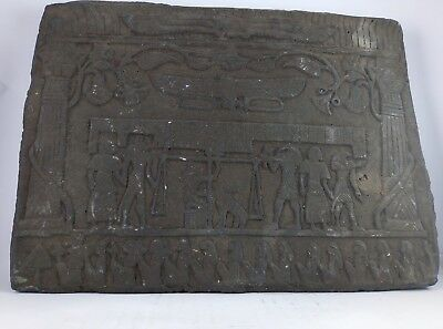 RARE ANTIQUE ANCIENT EGYPTIAN Stela Afterlife God Anubis Judgement Stone 1235 Bc
