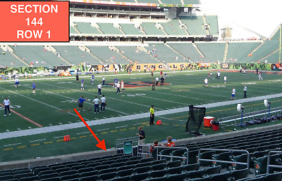 4 Front row Cleveland Browns at Cincinnati Bengals tickets Section 144 row 1