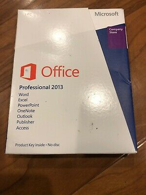 Microsoft Office Professional 2013 - New In Sealed Box - Product Key - NFR