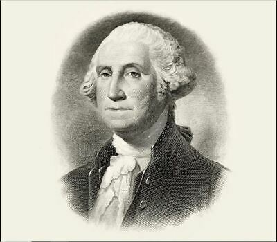 George Washington -Engraved Intaglio Presidential Portrait -Large-BEP200 US MINT