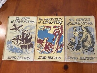 3 X Enid Blyton Adventure Series Vintage Books