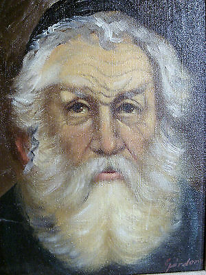The Rabbi - Original Oil On Canvas - Signed And Framed - Amazing