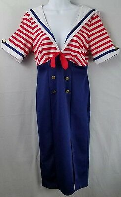 Deckhand Diva Sailor Navy Retro Rockabilly 1950s Women Costume