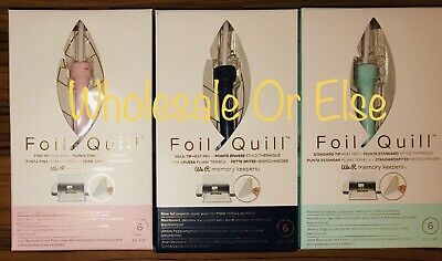 3 We R Memory Keepers Foil Quill USB Heat Pens Cricut Sizzix Brother Machine New