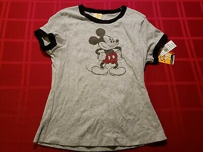 96417670 DISNEY MICKEY MOUSE Short Sleeve Shirt - Juniors Size M 7/9 **NEW ...