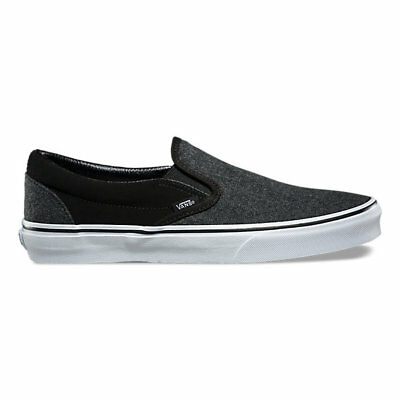 393e551452 Vans Classic Slip-On Shoe Suede and Suiting Black Skate Shoes Men s Size 9   75