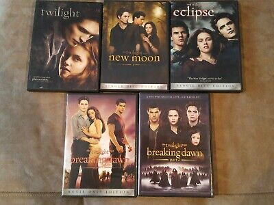 The Twilight Saga: Complete 5-Movie Collection As Separate Releases (DVD)