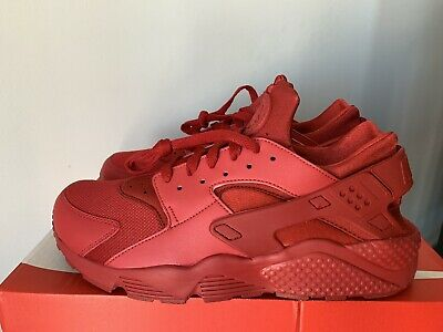 f910956f4a9c5 Preowned Nike Air Huarache Triple Varsity Red October 318429-660 Size 11.5