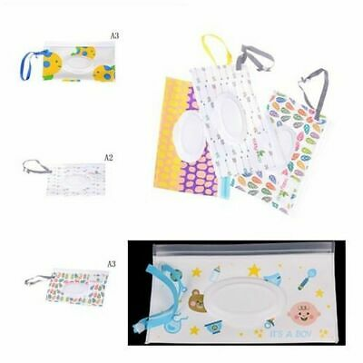 Wet Wipes Container Easy-carry Snap-strap Wipe Tissue Boxes Cosmetic Pouch New