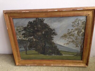 Jean Verdier Listed French Landscape Trees By Creek Vintage Painting