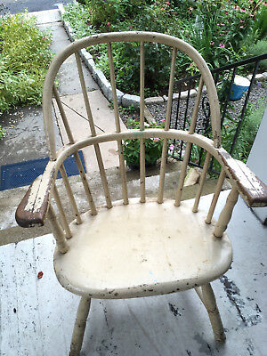 Antique Early American wood  captains  Chair restoration  special