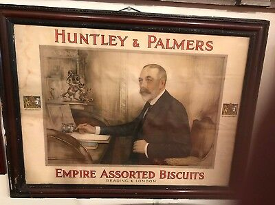 Vintage Huntley & Palmers Empire Assorted Biscuits Print Reading & London
