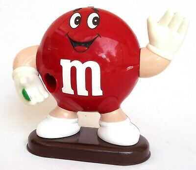 M & M Large Collectable RED Dispenser - 1992 Mars Incorporated - SCARCE!