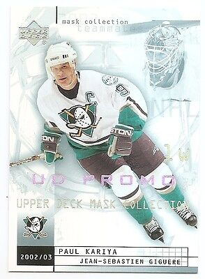 02/03 UD MASK COLLECTION UD PROMO Hockey (#1-90) U-Pick From List