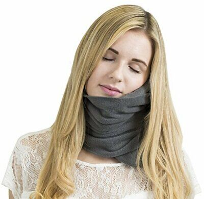 GENUINE TRTL Pillow Scientifically Proven Super Soft Neck Support  **GREY**