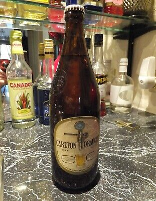 Old Early 1980's Carlton Draught 740ml Beer Bottle CDA81