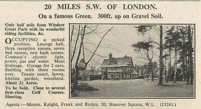 1936 Half Mile Windsor Great Park, 2 Acres 7 Bedrooms, To Be Sold