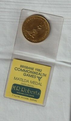 Australia 1982 Commonwealth Games Medal. M.r.roberts Issued.