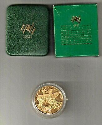 Australia .1988 Official Bicentennial Proof Medallion In Official Case Of Issue.