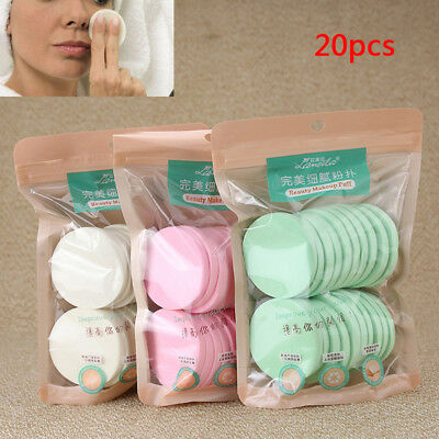 20Pcs Soft Cleansing Sponge Natural Face Wash Puff Facial Cleaning Pad Tools GN
