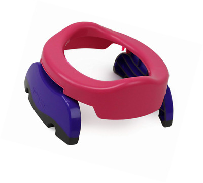 Potette Plus 2-in-1, Folding Travel Potty & Toilet Trainer Seat, Pink/Purple