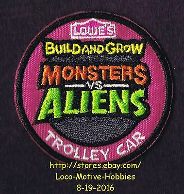 Lmh Insignia Parche Monstruos Aliens Trolley Coche 2014 Lowes Build Cultivo