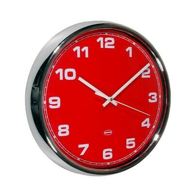 New Retro Wall clock - Red and silver, Cabanaz line by Capventure