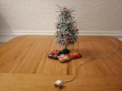 Vintage lundby dolls house furniture--light up Christmas tree and presents