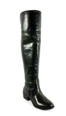 bde23d73046 VINCE CAMUTO BALDWIN Over The Knee Black Leather Boots  Size 10M ...