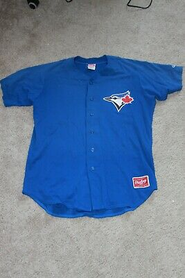 58906787c GAME WORN TORONTO BLUE JAYS MINOR LEAGUE JERSEY sz46 RAWLINGS #21 ...