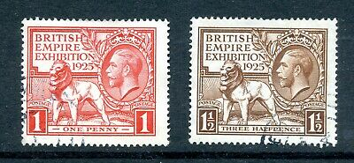 1925 WEMBLEY EXHIBITION 2v. GREAT BRITAIN KING GEORGE 5th FINE USED