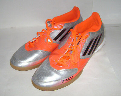 436b37e819bc Adidas Performance Indoor Soccer Shoes Cleats F10 V21295 Men size 12 Silver  Oran