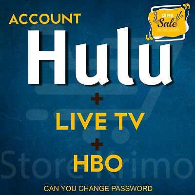Hulu PREMIUM ACCOUNT  ✅ LIVE TV + HBO 🔥Instant Delivery🔥 NOT SHARED WARRANTY