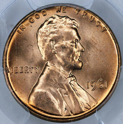 1961 PCGS MS66RD Lincoln Cent