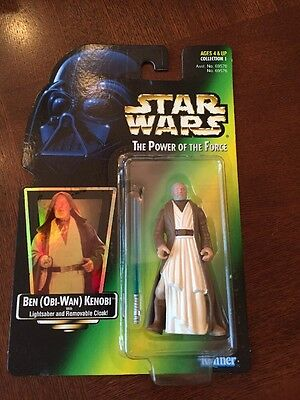 1997 Star Wars POTF Obi-Wan Kenobi With Lightsaber Action Figure,MISP (B83)