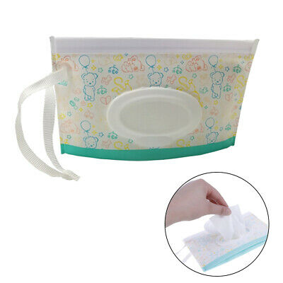 1Pc Portable cartoon baby wipes bag outdoor easy-carry clean wet wipes pouch HC