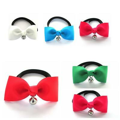 Pet Cat Dog Puppy Solid Color BowTie Collar With Bell Adjustable Necklace Super