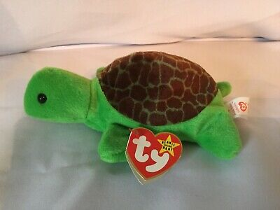 7bf21d22baa TY SPEEDY THE TURTLE BEANIE BABY - MINT with Tag errors -  75.00 ...