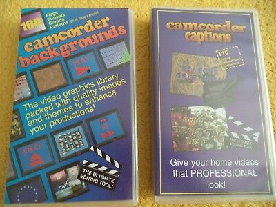 VHS Camcorder backgrounds and captions. To add to your home movies.