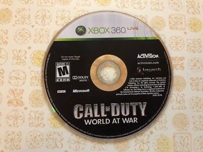 Call of Duty: World at War < Microsoft Xbox 360, 2008 > - DISC ONLY