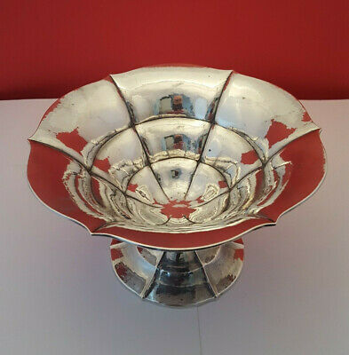 Superb Danish Art Deco Sterling Silver Fruit Comport Bowl. CF Heise Denmark 1920